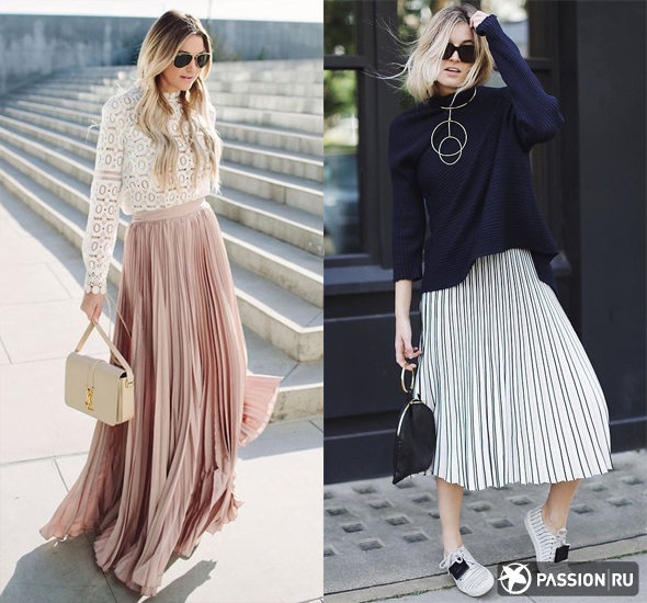 Плиссированная юбка: с чем носить