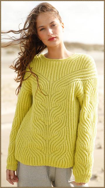 Золотой пуловер, связанный п…