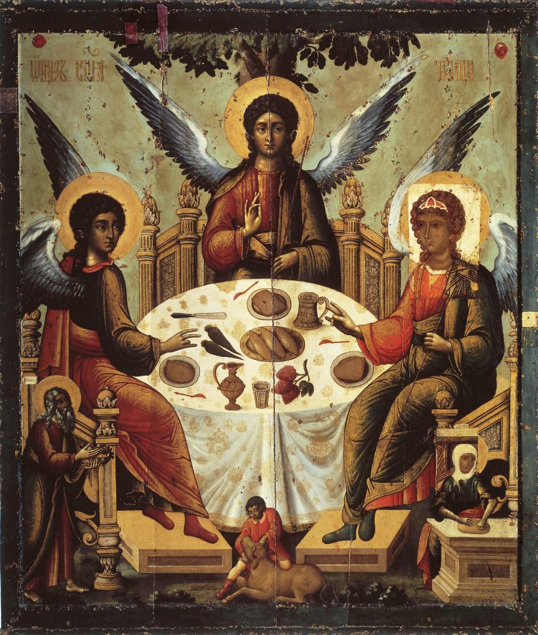 Сколько лиц на иконе троица допускает канон