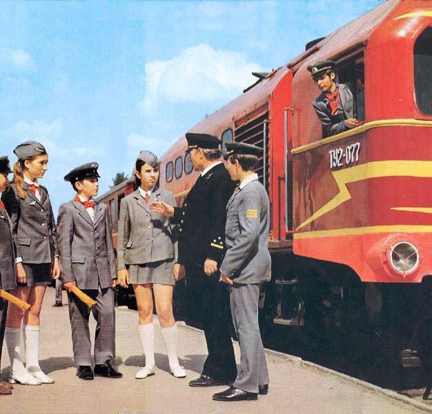 Профориентированные кружки. Кружок юных железнодорожников СССР, детство, кружки