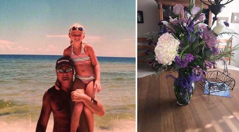 Она получила цветы от своего отца спустя 5 лет после его смерти