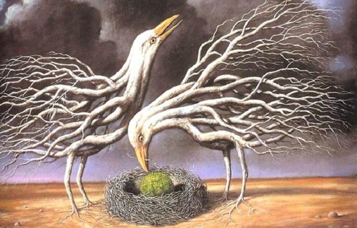 Рафал Олбински (Rafal Olbinski) - польско-американский художник-сюрреалист.