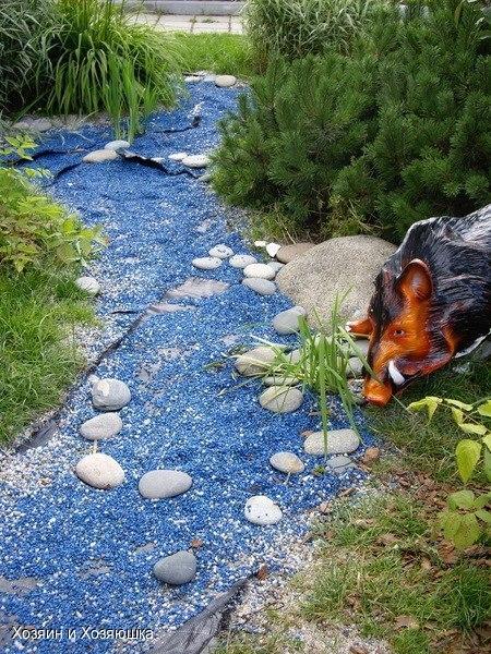 Как сделать ручей из камней