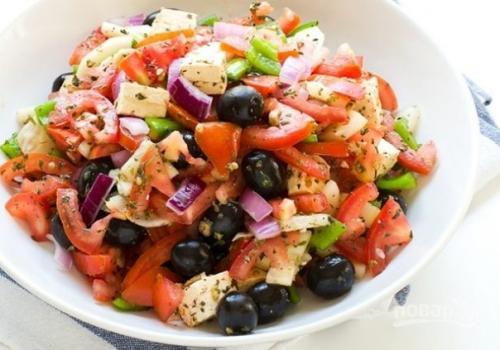 Салат «Греческий» вегетарианский.