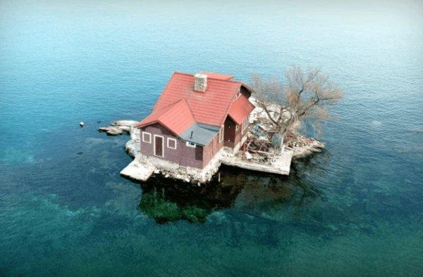 Остров » Just Room Enough Island» — маленький рай для мизантропов