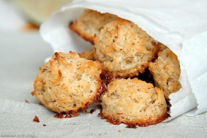 Кокосовое печенье без муки жира и яиц