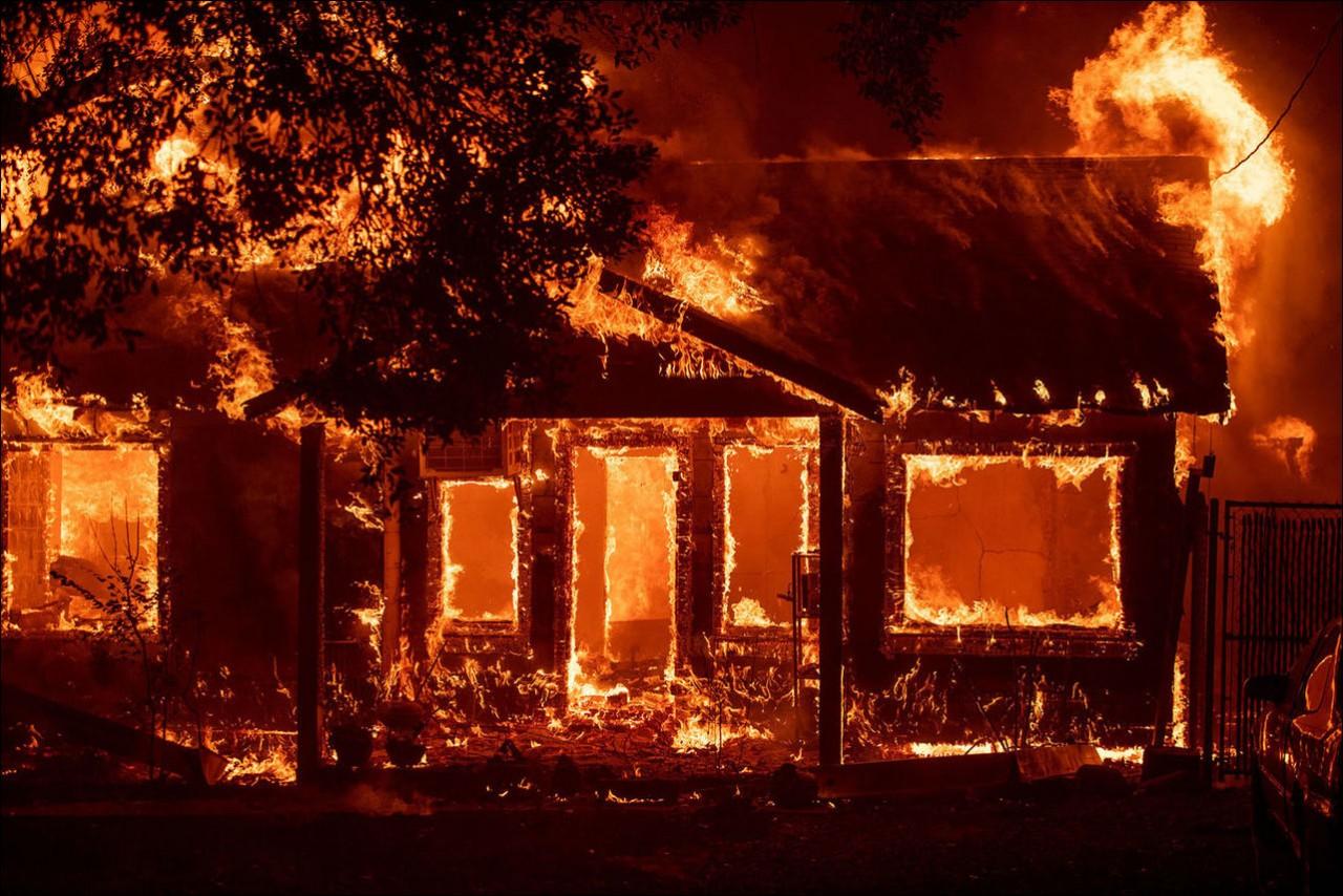 Лесные пожары в Калифорнии (20 фото)