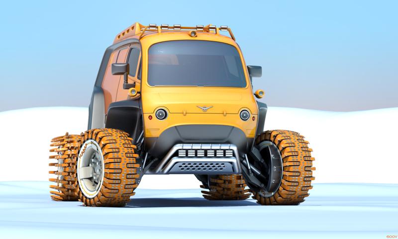 Как могли бы выглядеть российские автомобили: крутые концепты автомобили, ваз, газ, концепты, российские автомобили, уаз