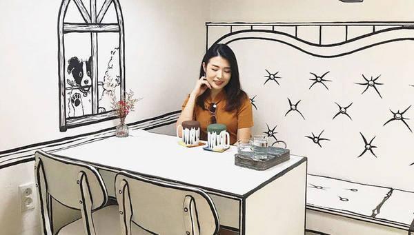 """В Сеуле работает """"нарисованное"""" кафе"""