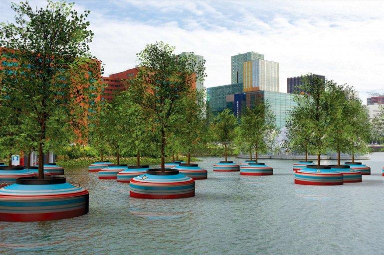 Плавающий лес будет построен в Роттердаме