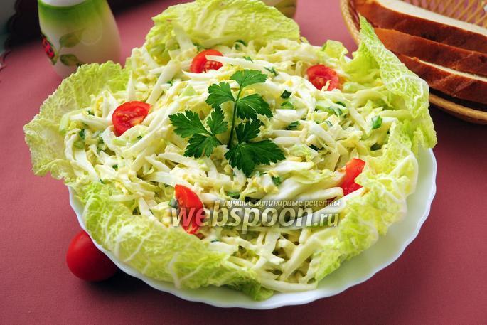 Рецепт из пекинской капусты с огурцом