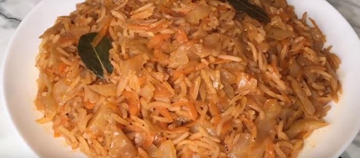 капуста тушеная с рисом и картошкой