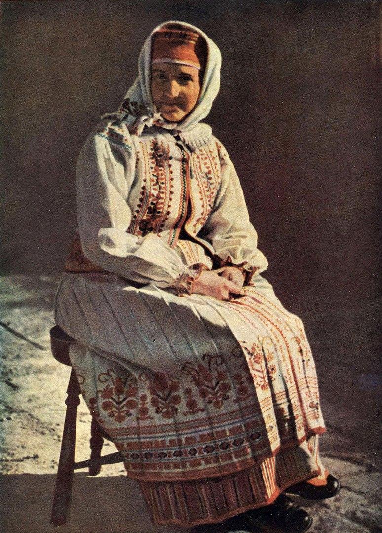 Цветные фотографии сельских украинцев, 1950-е годы