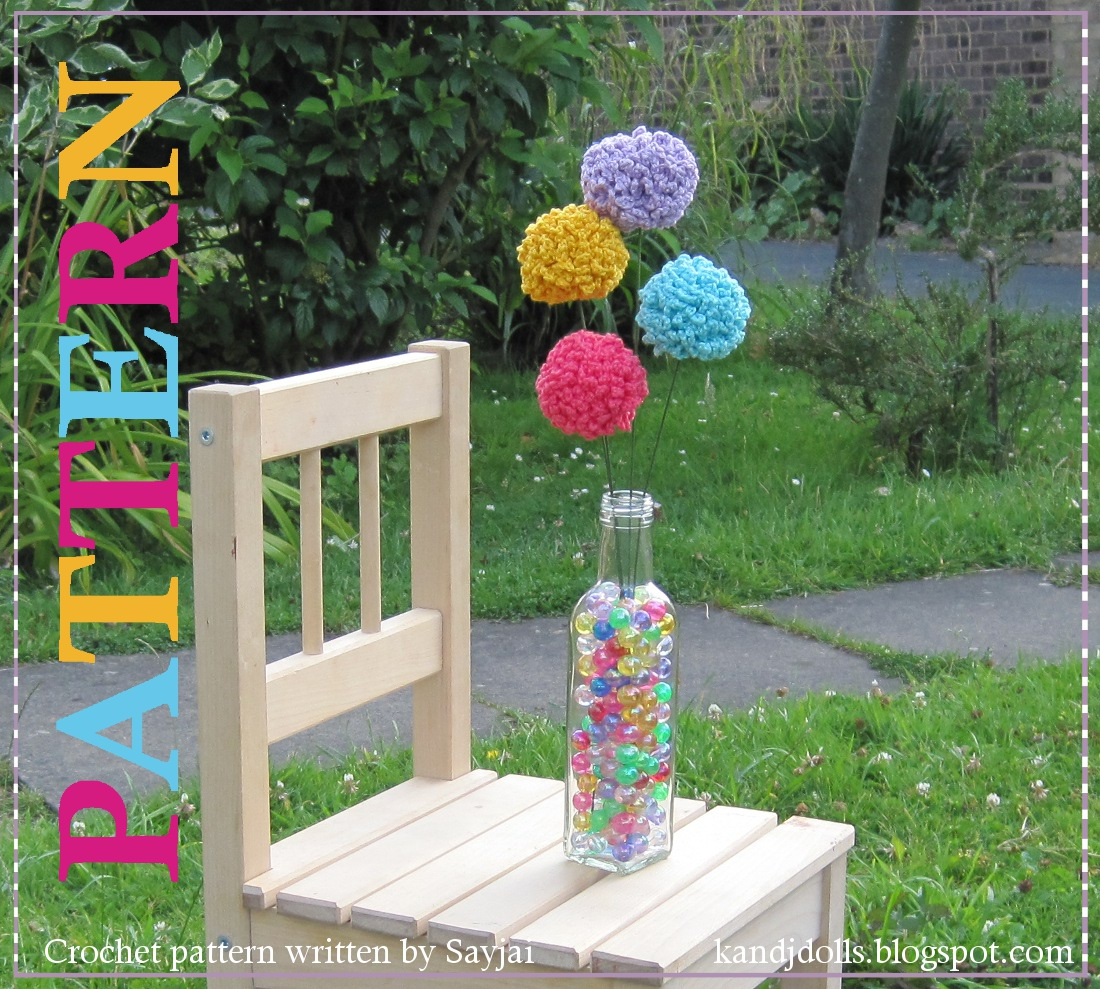Цветок-шар вместо помпона