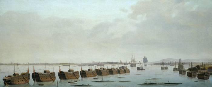 Из плавающих изоляторов образовывались целые колонны по 30 кораблей / Фото: stoneforest.ru