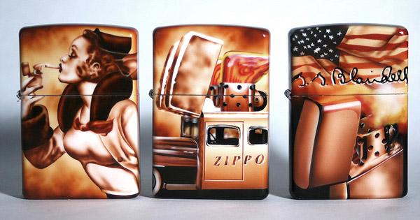 Зажигалка Zippo как произведение искусства