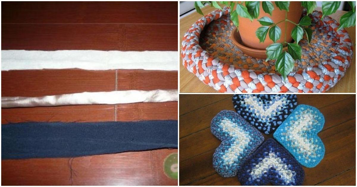 Необычный и простой способ плетения из остатков ткани