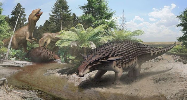 Обнаружены останки сухопутного динозавра на морском дне. Видео