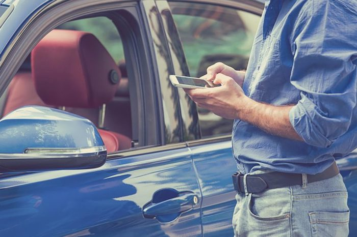 Смартфон-«маячок» для машины.