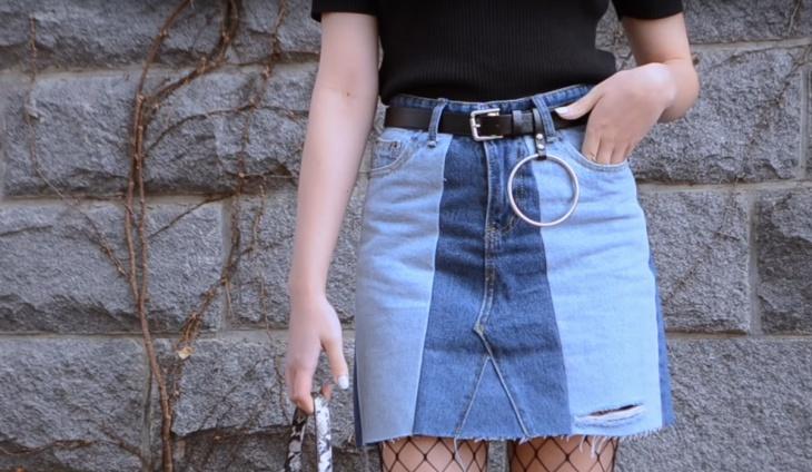 Юбка из джинсов (Diy)