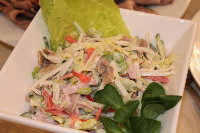 Английский салат «Воздух», обязательно попробуйте его
