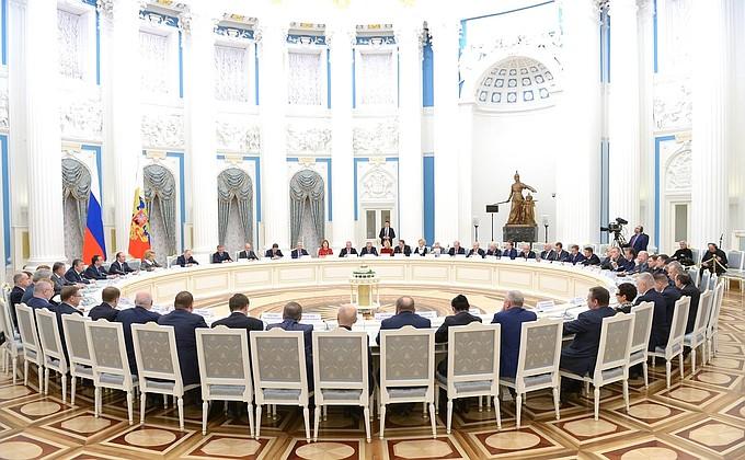 Встреча с руководством палат Федерального Собрания - НОВОСТИ НЕДЕЛИ