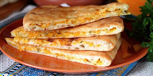 Рецепты: Осетинские пироги с тыквой и сыром