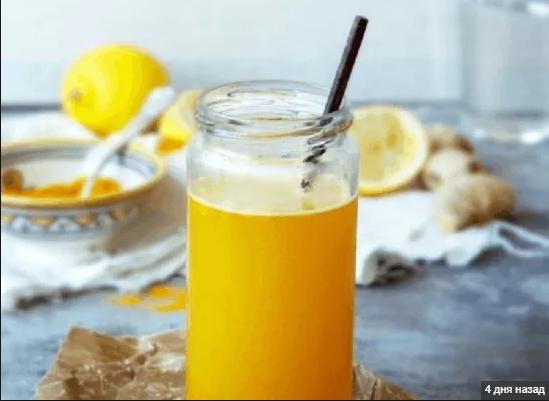 Детокс-напиток из куркумы, груши, ананаса и апельсина