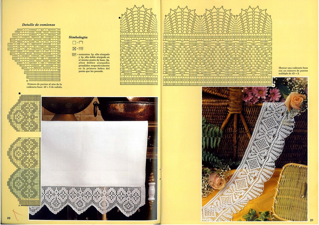 Филейное вязание крючком. VK 9