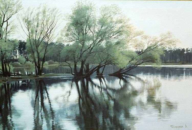 Тихие воды, лесные тропинки. Художник Айрат Гайфуллин