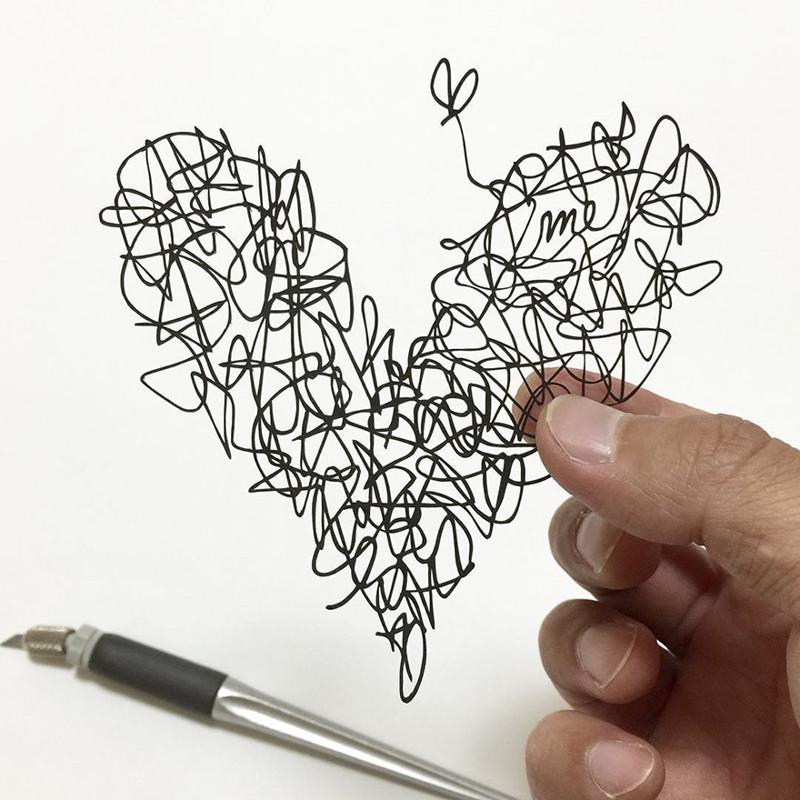Люби меня Мандалы, бумага, зентангл, художник