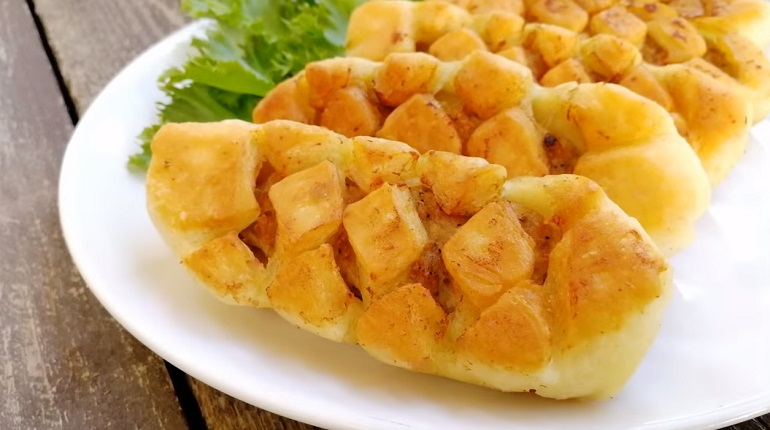Пирожки-косички с мясом: ско…