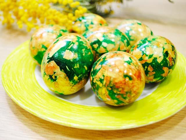 Мраморные яйца на Пасху — 6 пошаговых рецептов