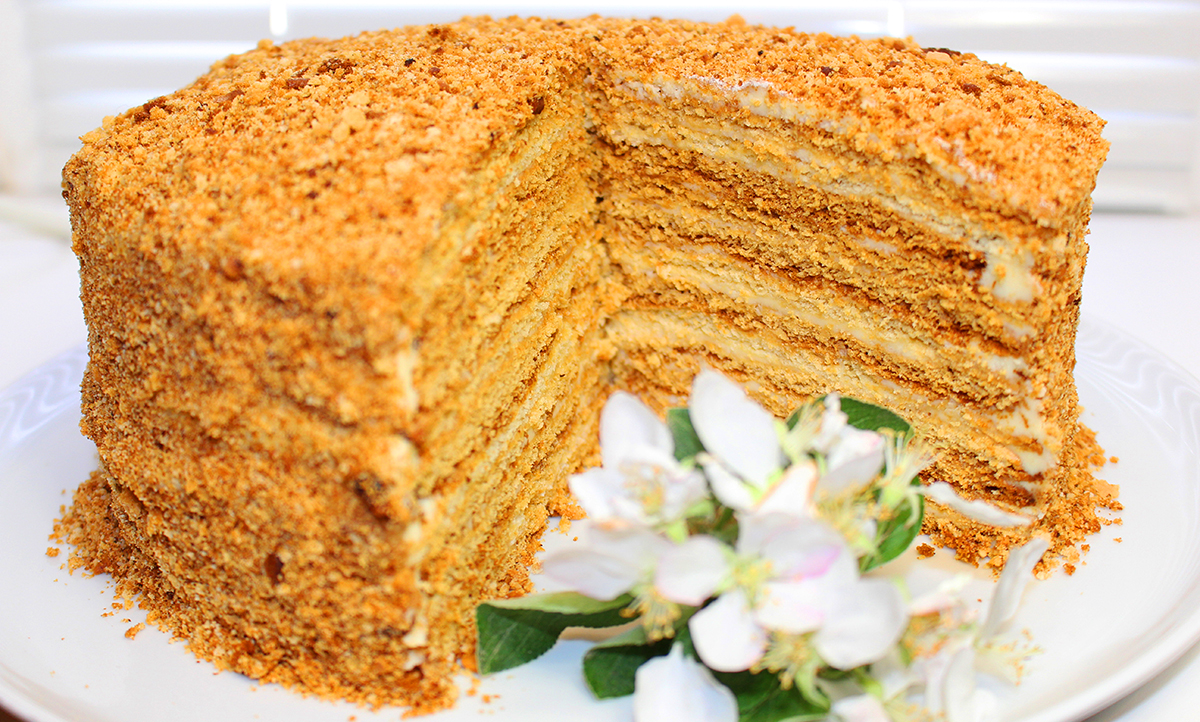 Рецепты пирогов медом фото