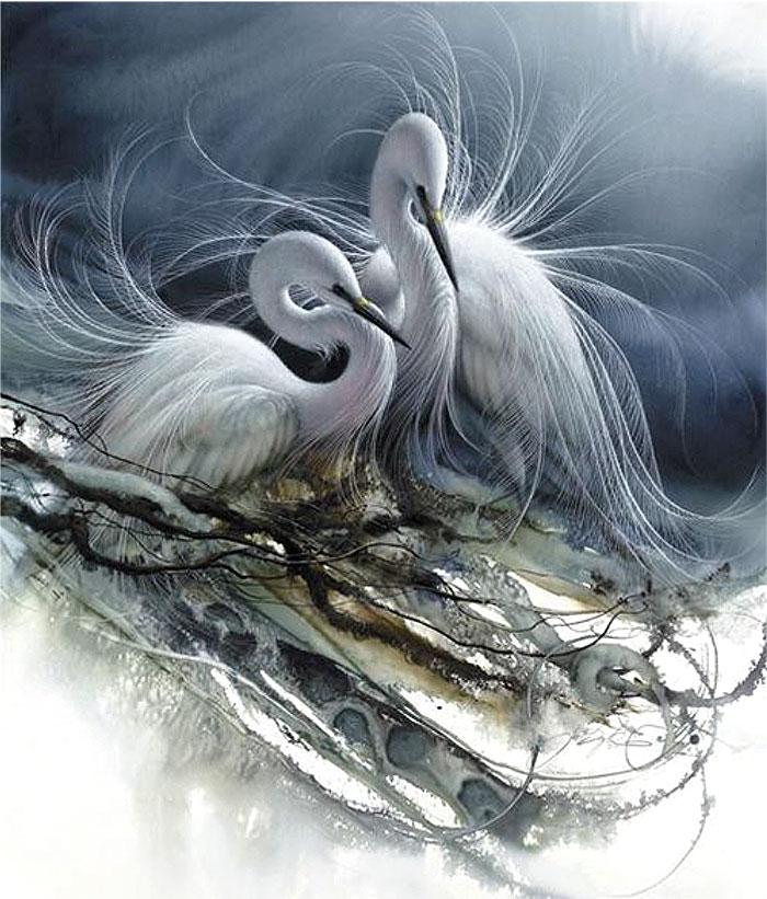 Безмятежность - это внутри... замечательная анималистическая живопись Ли Богла