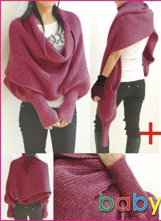 Свитер-шарф