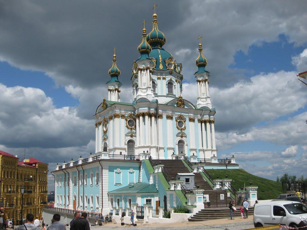 Порошенко передает Патриарху Варфоломею Андреевскую Церковь
