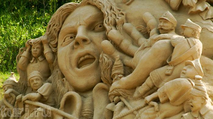 Музей песчаных скульптур - чудеса на песке