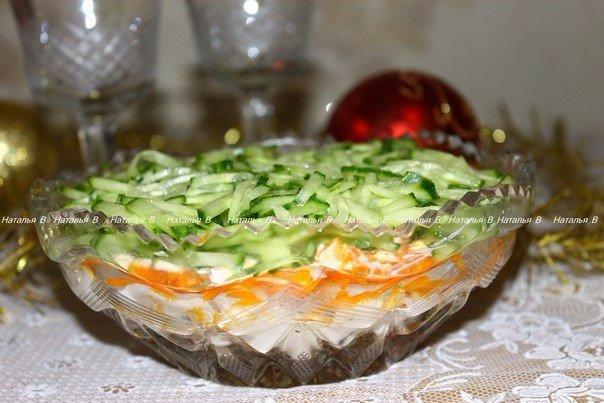 Название этому салату дали с…