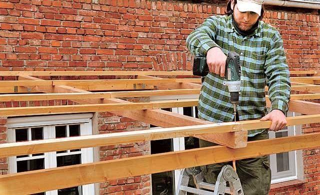 Как сделать крышу на навес своими руками