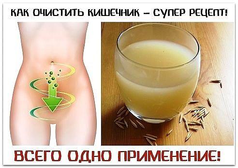 Очищение кишечника в домашних условиях рецепты