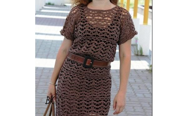 Симпатичное вязаное платье