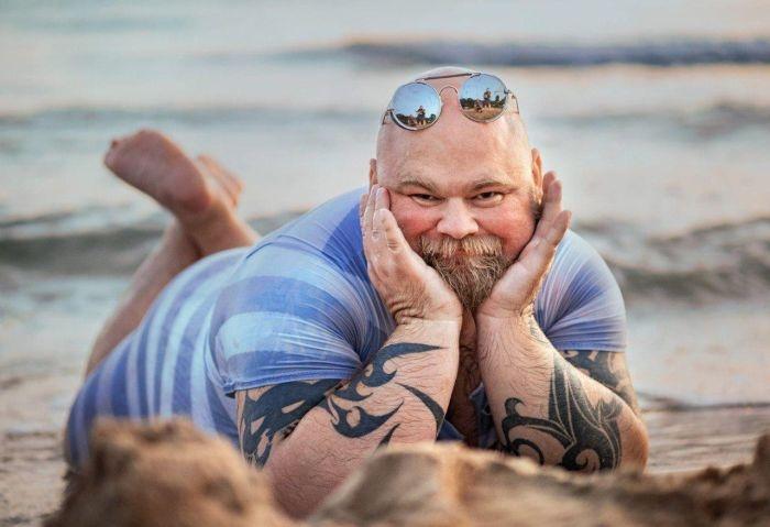 Шуточная фотосессия на берег…