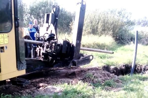 В Пошехонье заменен аварийный водопровод, связывающий два берега реки Соги