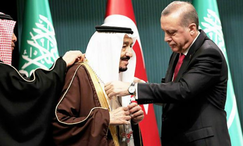 Эрдоган принял короля Саудовской Аравии под марш в честь русских героев