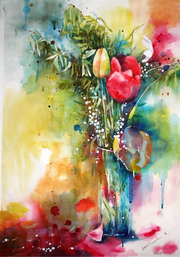 Акварельный сад по ту сторону реальности… Художница Елена Дробышева