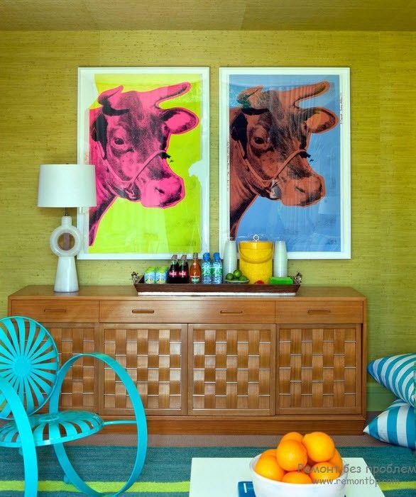 Причудливая мебель в ретро стиле