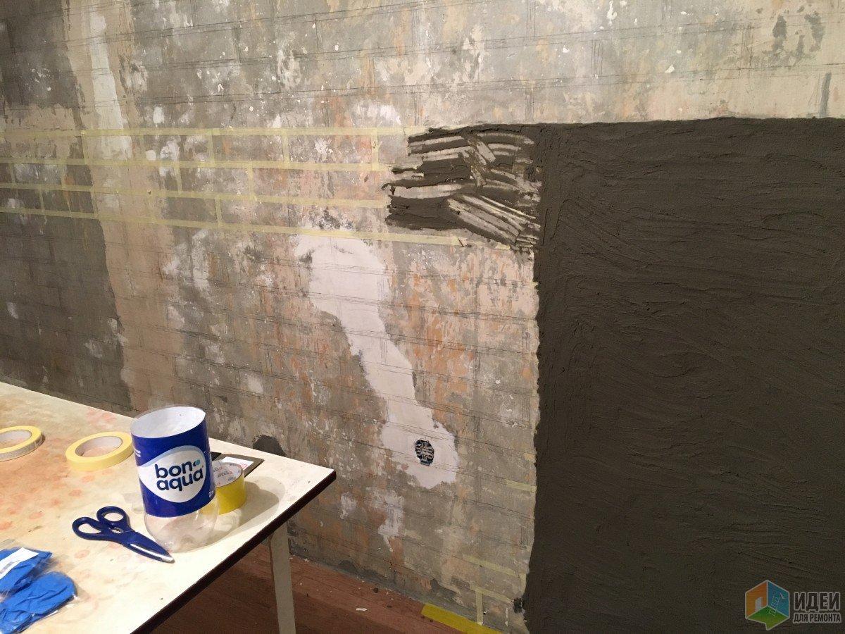 Имитация кирпичной стены из штукатурки своими руками Все о 41