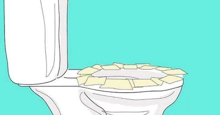 После этого Вы больше никогда не будете класть туалетную бумагу на сиденье унитаза