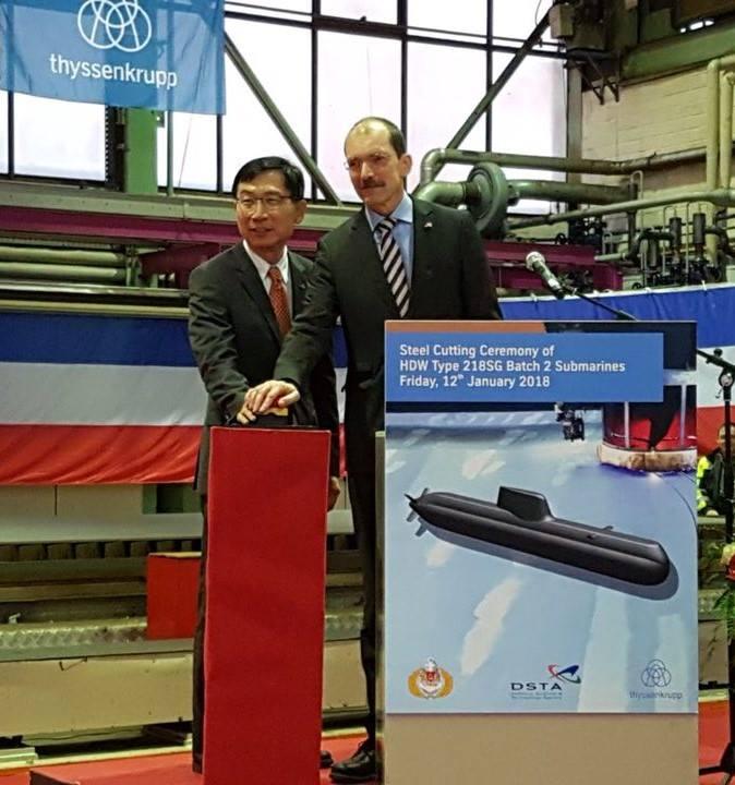 Начато строительство третьей и четвертой подводных лодок проекта 218SG для Сингапура